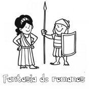Desenho de fantasia de romanos para colorir