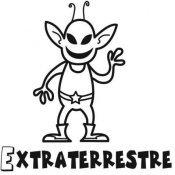 Desenho de extraterrestre para colorir