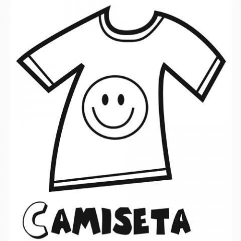 Desenho de camiseta para colorir