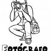 Desenho de um fotógrafo para pintar com as crianças