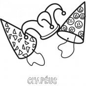 Desenho para pintar de chapéus de aniversário