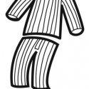 Desenho de pijama para pintar com as crianças