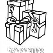 Desenho para colorir de presentes de aniversário