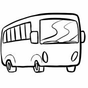 Desenho de um ônibus para imprimir