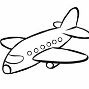 Desenho de avião de passageiros para pintar
