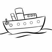 Desenho de barco de pesca para colorir