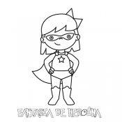 Fantasia de super heroína. Desenho para colorir