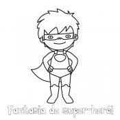 Desenho grátis de super herói para colorir