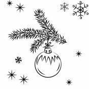 Desenho de bola de Natal para decorar a casa