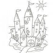 Desenho de um castelo para imprimir