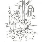 Desenho de um rei para colorir