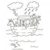 Desenho da Arca de Noé para colorir