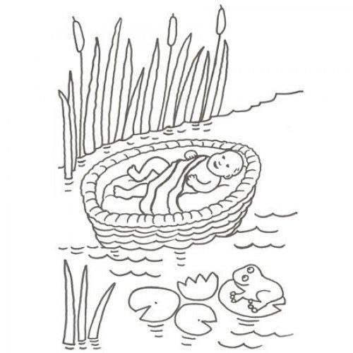 Desenho de Moisés para colorir com as crianças