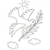 Desenho da pomba da paz para colorir