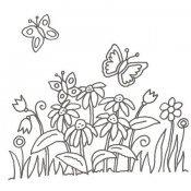 Desenho de jardim de flores para colorir