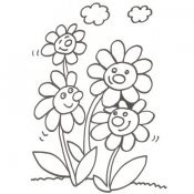 Desenho de margaridas para imprimir às crianças