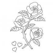 Desenho de rosas para colorir com as crianças