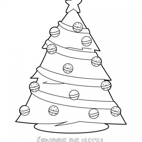 Desenho De Arvore De Natal Para Pintar