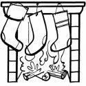 Desenho de meias na chaminé para pintar