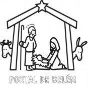 Desenho de presépio para pintar no Natal