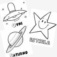 Desenhos do espaço para pintar com as crianças
