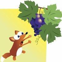 The fox and the grapes. Fábulas em inglês para crianças