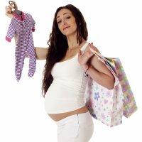 Compras para a mãe e o bebê antes do parto