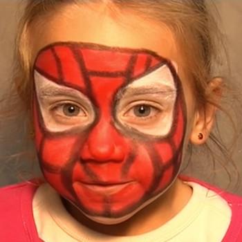 Maquiagem de Homem Aranha para crianças