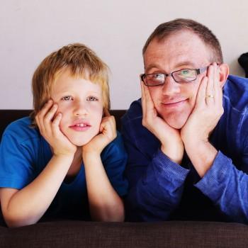 A família de uma criança autista
