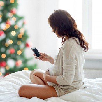 Ideias para anunciar a gravidez no Natal