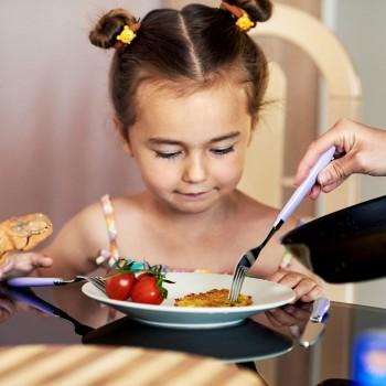 A hora do jantar das crianças