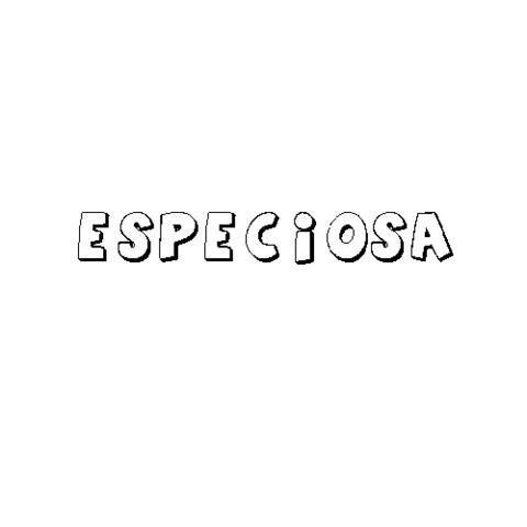 ESPECIOSA