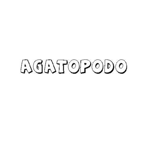 AGATÓPODO
