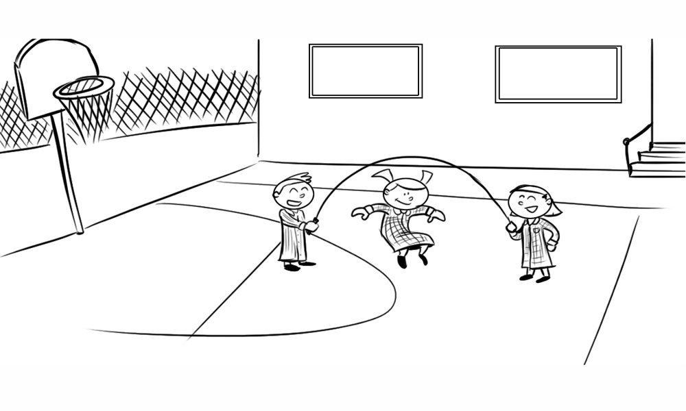 Moderno Página Para Colorear Niños Jugando Imagen - Dibujos Para ...