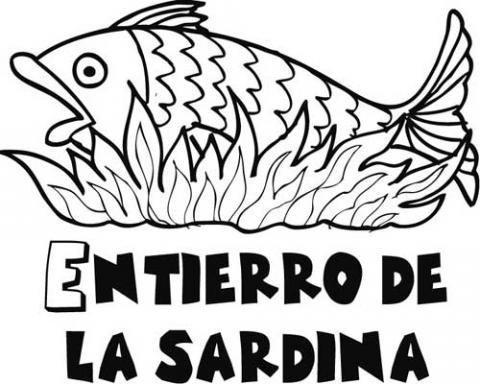 Dibujos del entierro de la sardina para pintar con los niños