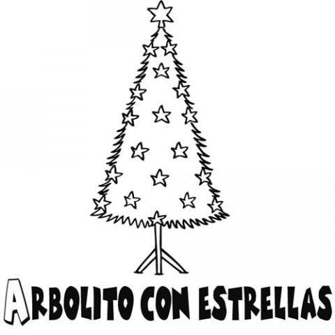 Dibujo De Arbol De Navidad Para Ninos