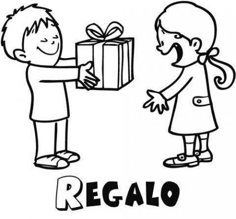 Dibujos infantiles de regalos para niños. Dibujos de cumpleaños