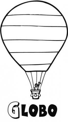 Dibujos gratis de un globo aerostático para imprimir y colorear