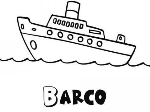 Desenho de um navio para imprimir