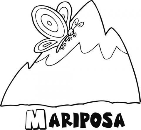 Mariposa volando en la montaña