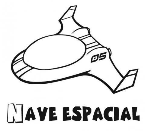 Dibujo gratis de una moto espacial para imprimir y pintar