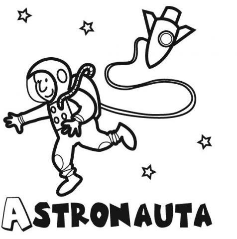 Desenho de astronauta para imprimir e pintar