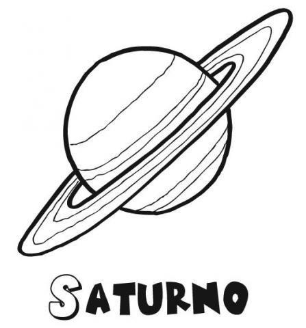 Desenho do planeta Saturno para pintar