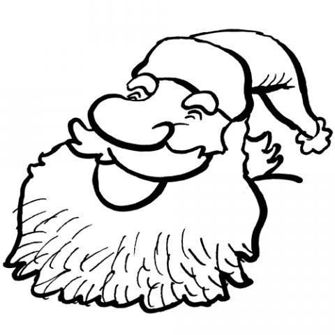 Papá Noel Sonriendo Dibujos De Navidad Para Colorear