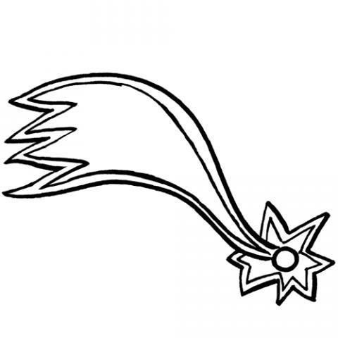 Dibujo de la estrella de Oriente para colorear. Dibujos de Navidad