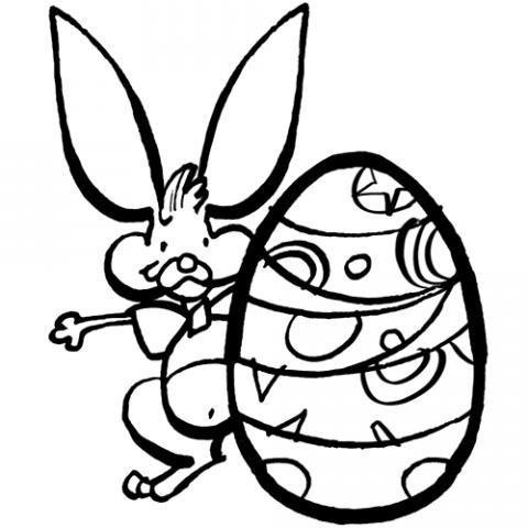 Huevo y conejo de Pascua