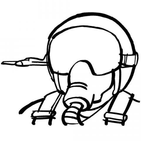 Desenho de piloto de avião para imprimir