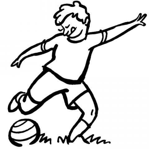 Desenho de jogador de futebol para pintar