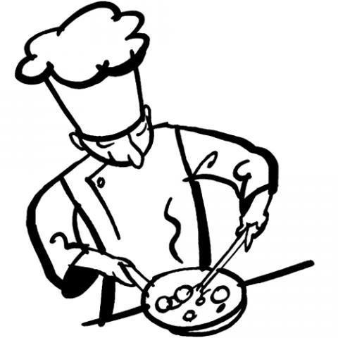 Desenho de um cozinheiro para colorir
