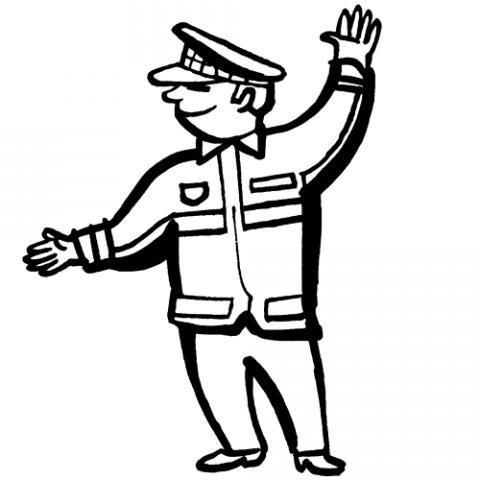 Desenho De Policia Para Pintar Com As Criancas
